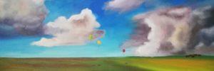 Peinture Emmanuelle Leduc Le Ciel